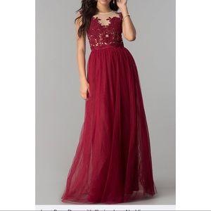 Floor length red formal/prom dress